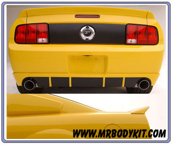 2005-2009 Mustang 3D Carbon Duck Tail Wing - 3PC (Paint Options)